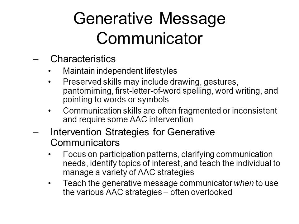 Generative Message Communicator