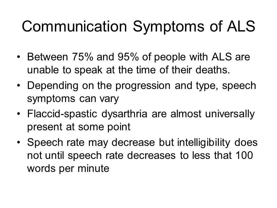 Communication Symptoms of ALS