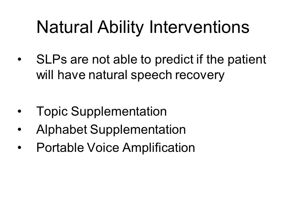 Natural Ability Interventions