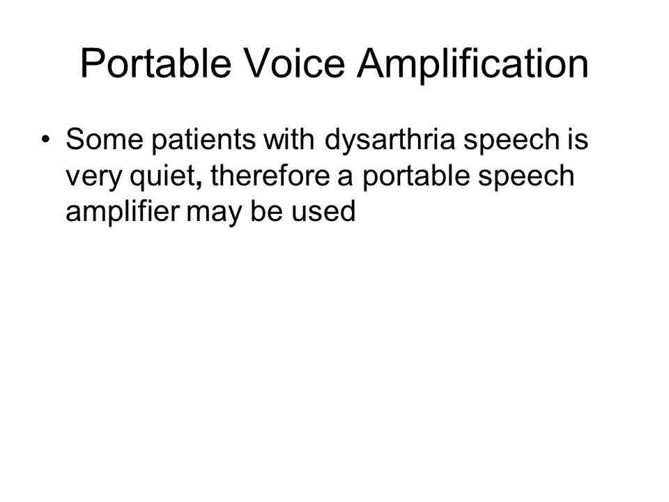Portable Voice Amplification