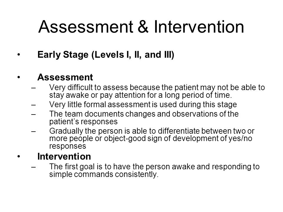 Assessment & Intervention