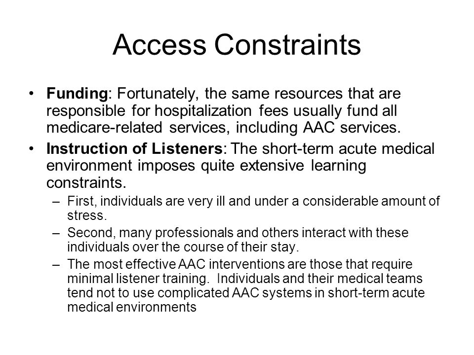Access Constraints