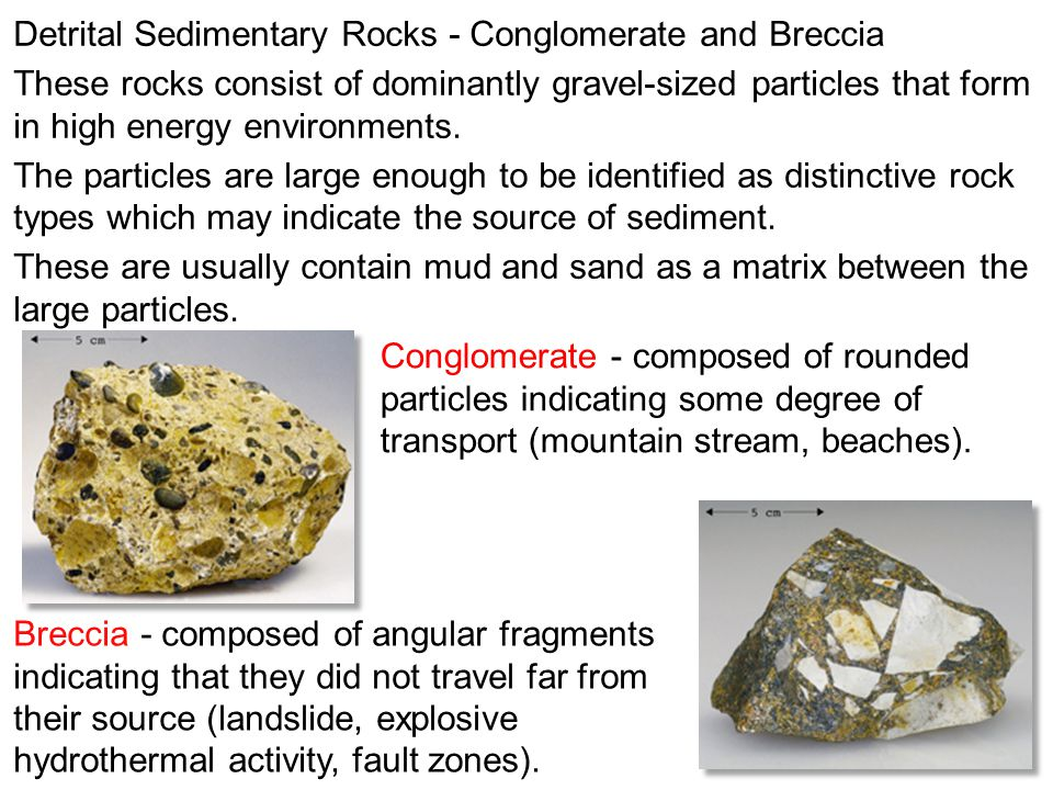 Detrital Sedimentary Rocks - Conglomerate and Breccia