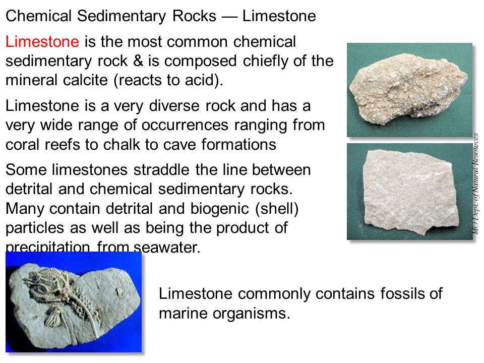 Chemical Sedimentary Rocks — Limestone