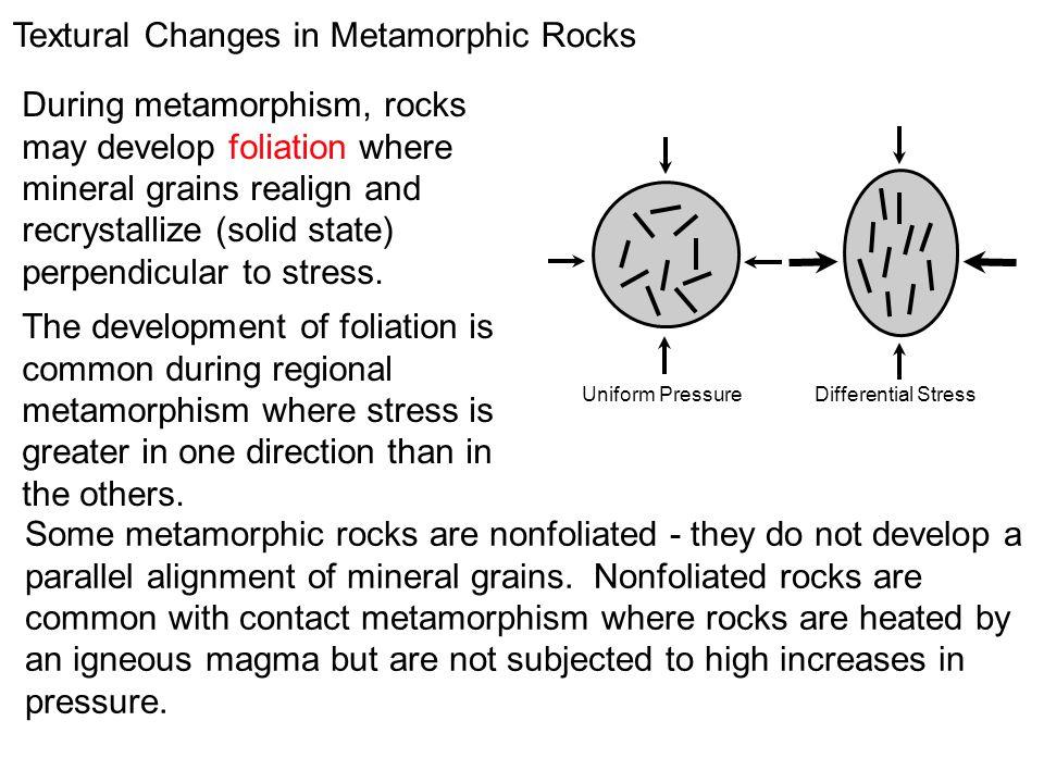 Textural Changes in Metamorphic Rocks