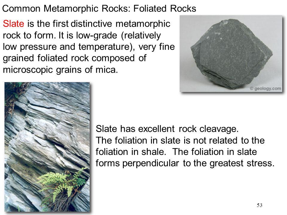 Common Metamorphic Rocks: Foliated Rocks