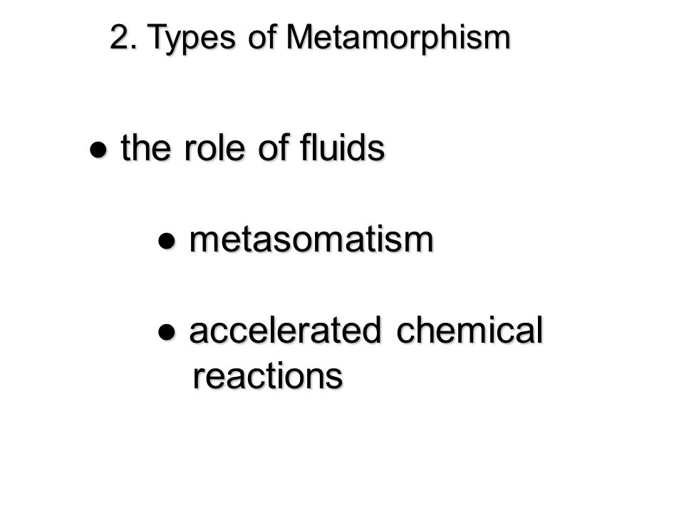 ● accelerated chemical reactions
