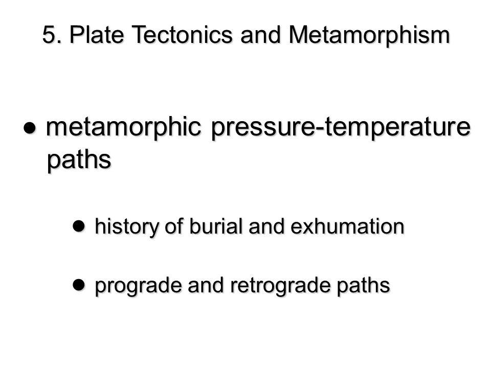 ● metamorphic pressure-temperature paths