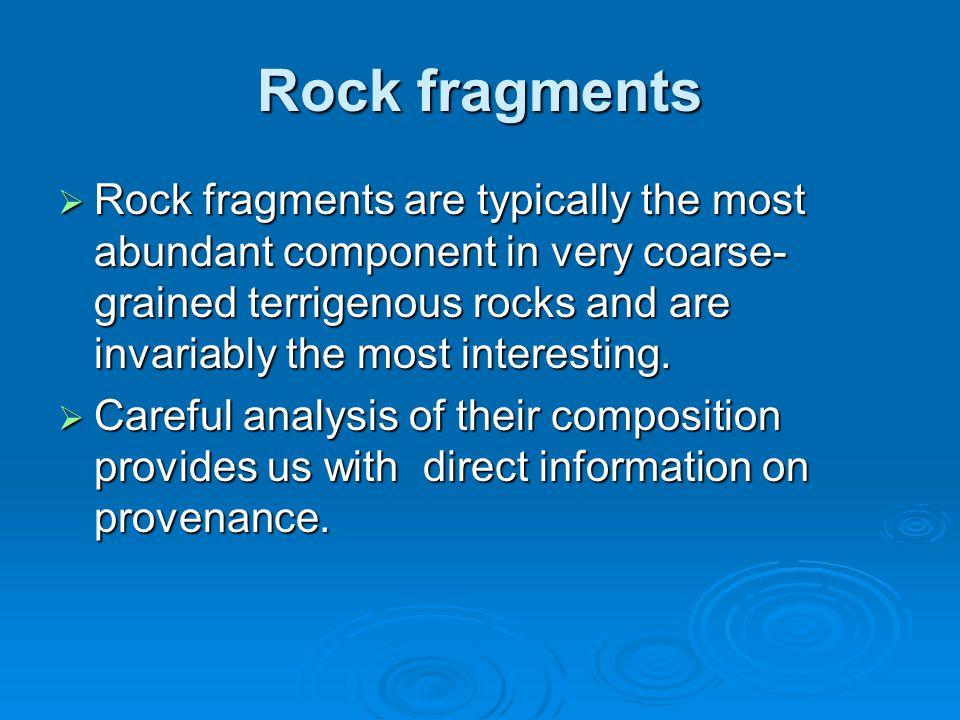 Rock fragments