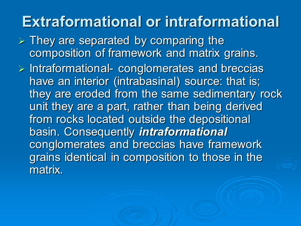 Extraformational or intraformational
