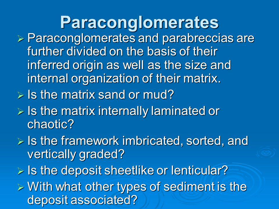 Paraconglomerates