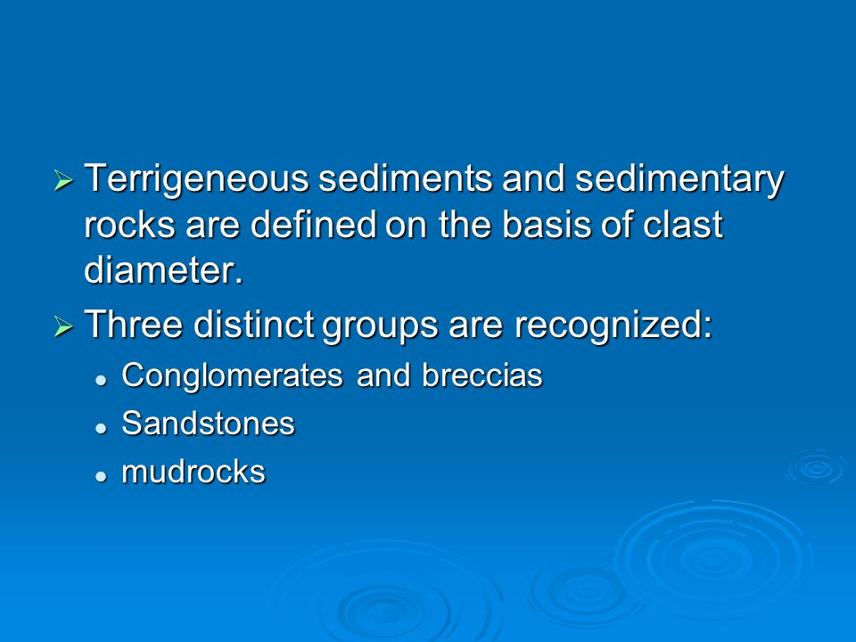 Three distinct groups are recognized: