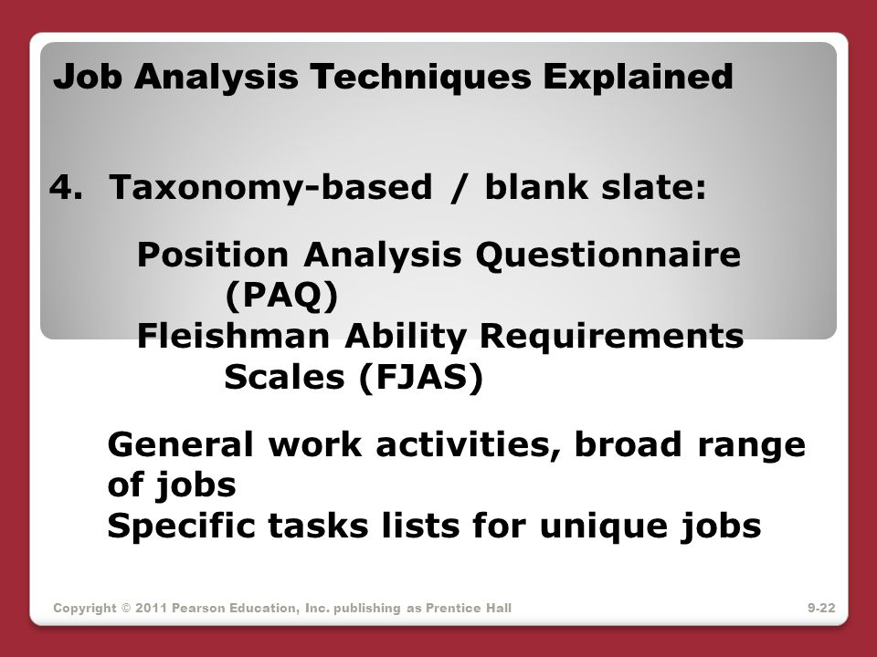 Job Analysis Techniques Explained