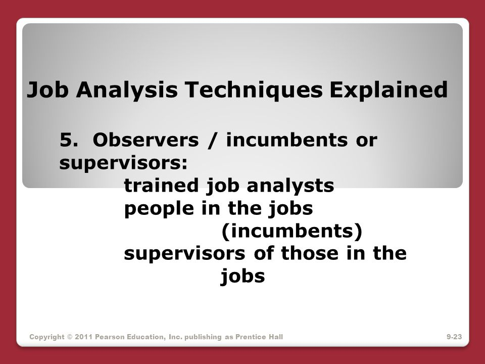 Job Analysis Techniques Explained 5