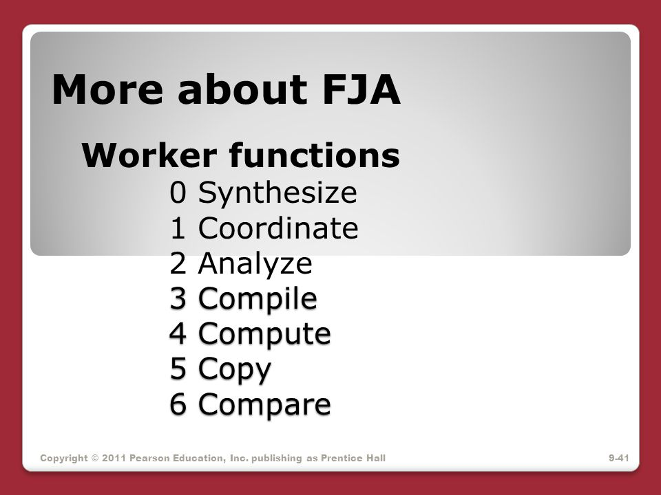 More about FJA Worker functions. 0 Synthesize. 1 Coordinate. 2 Analyze