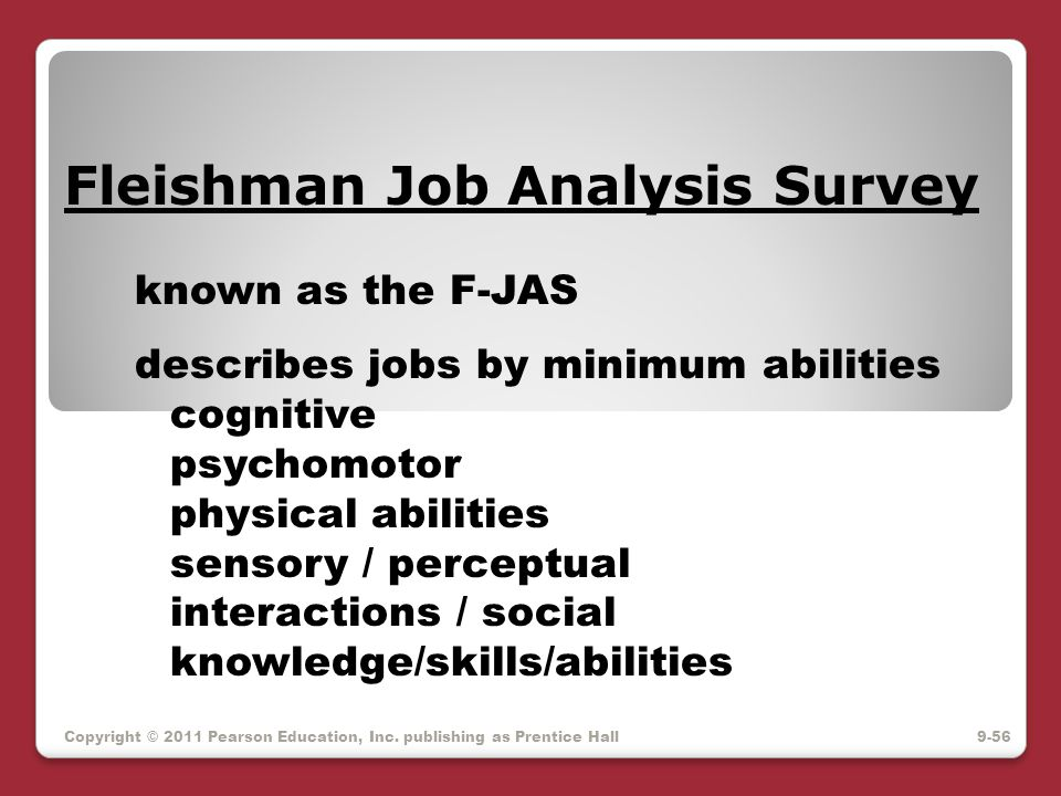 Fleishman Job Analysis Survey