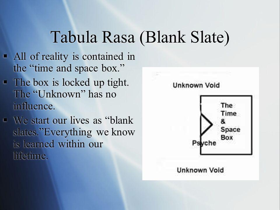 Tabula Rasa (Blank Slate)