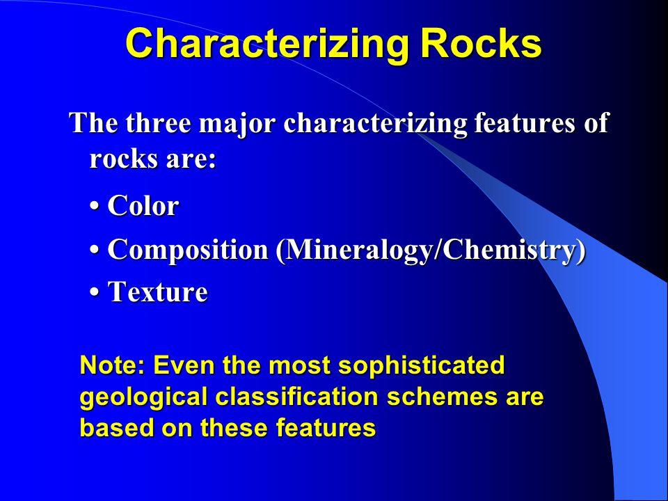Characterizing Rocks • Color