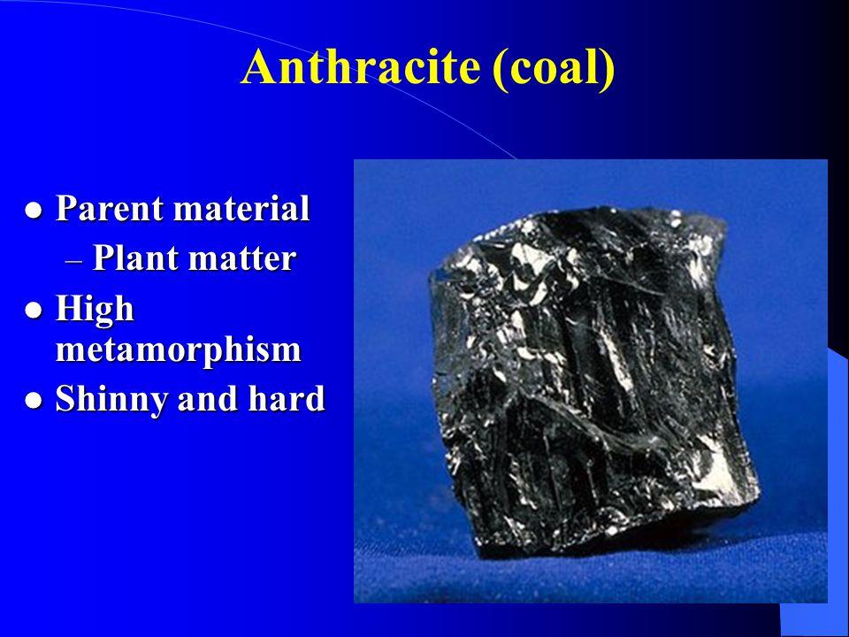 Anthracite (coal) Parent material Plant matter High metamorphism