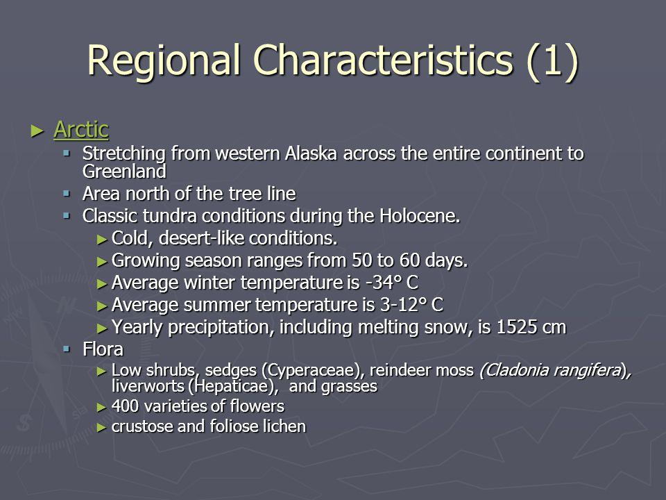 Regional Characteristics (1)
