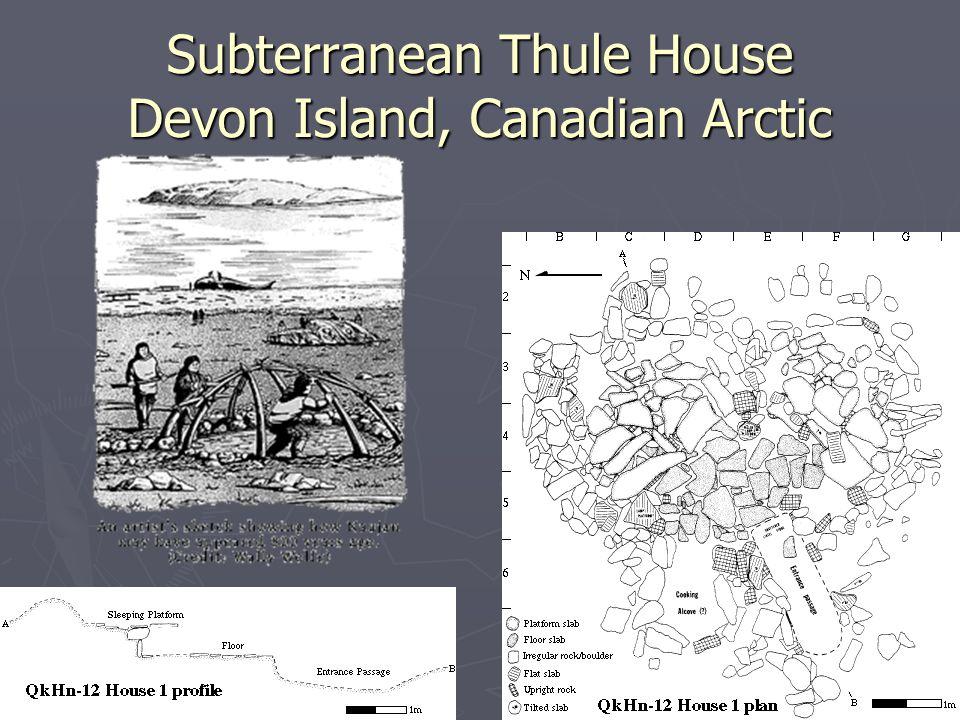 Subterranean Thule House Devon Island, Canadian Arctic