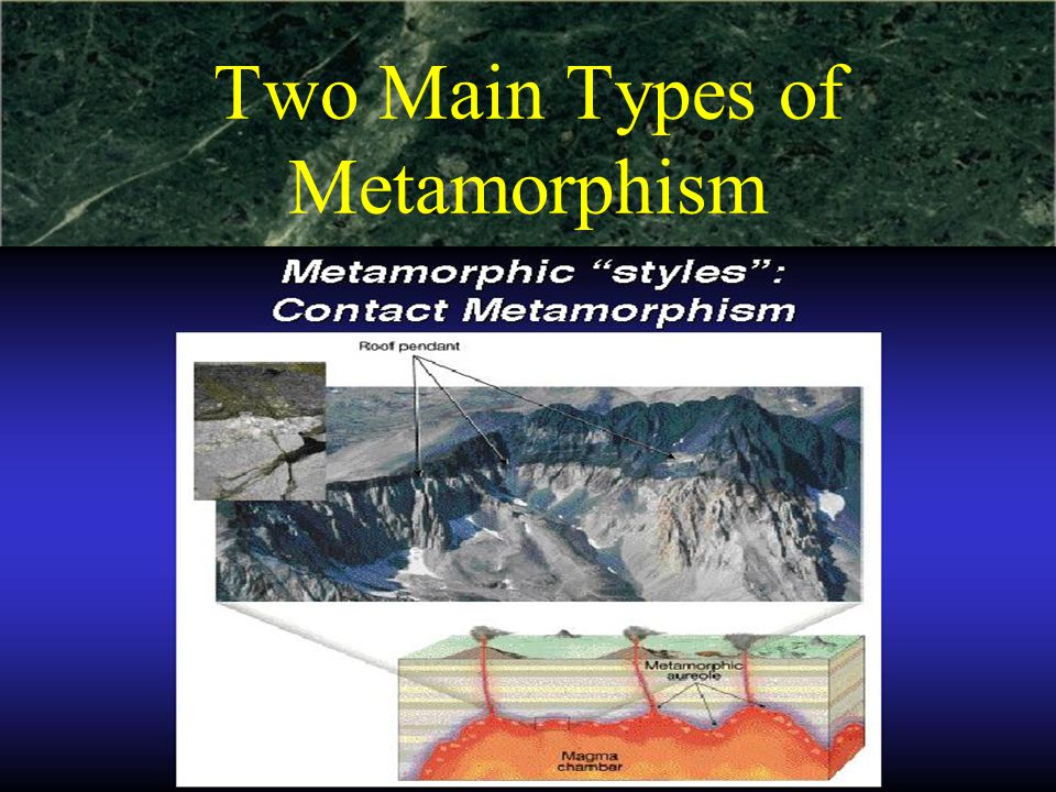 Two Main Types of Metamorphism