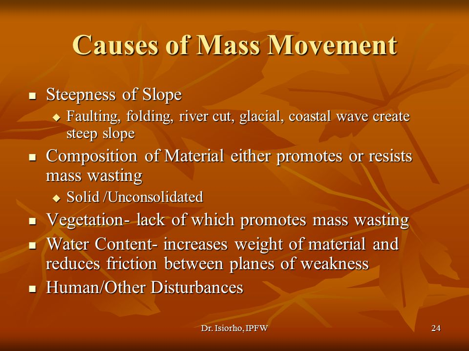 Causes of Mass Movement