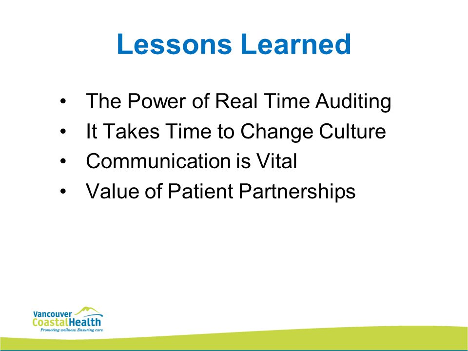 Lessons Learned The Power of Real Time Auditing