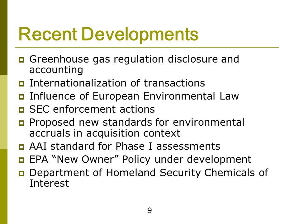 Greenhouse Gas Regulation & Litigation