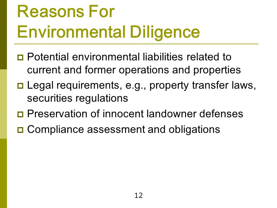Environmental Disclosures Under Securities Laws