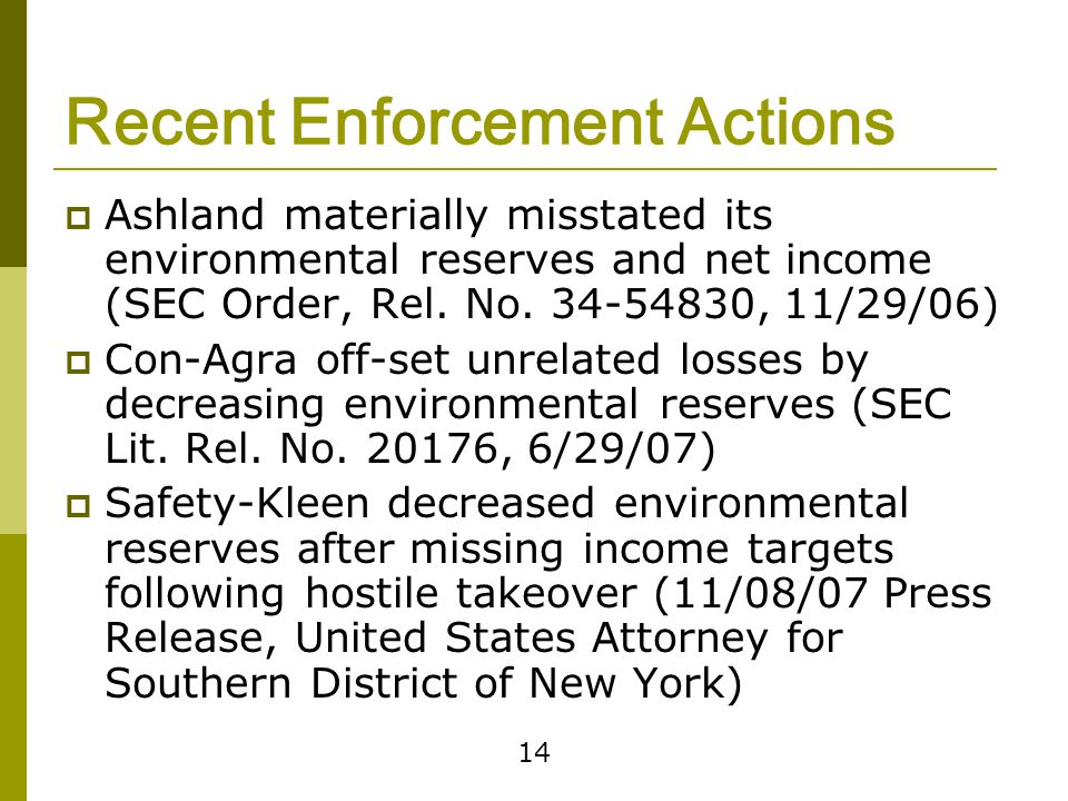 Policies On Reserves Create clear audit trail of reserve amounts and reasons for adjustments. Retain records to support reserve amounts.