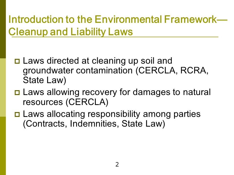 Pollution Control and Prevention Laws