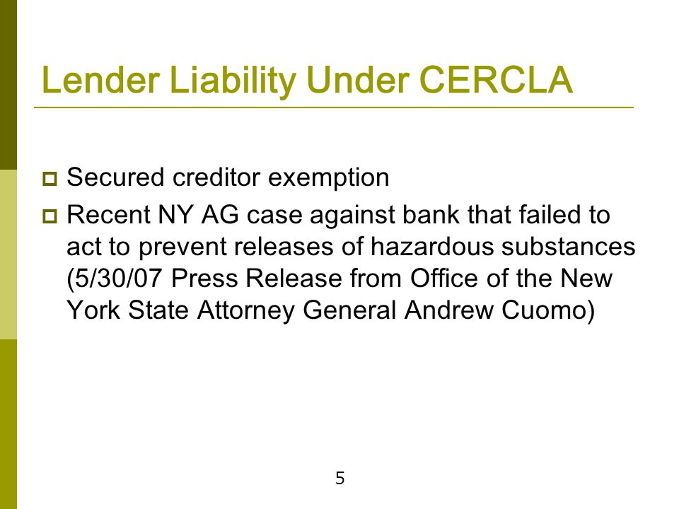 Protecting Against CERCLA Liability