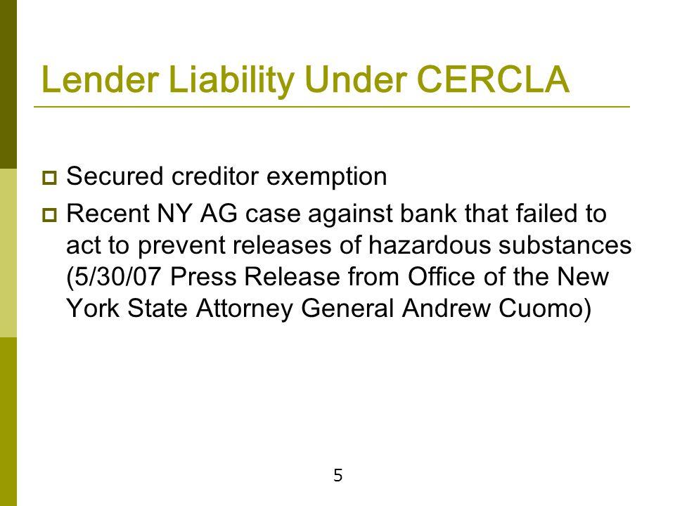 Protecting Against CERCLA Liability