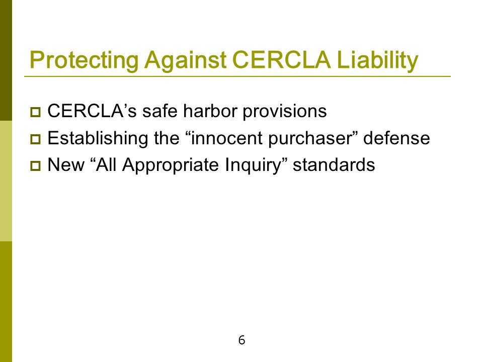 Additional Liability Concerns