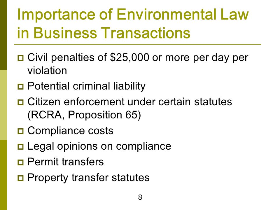 Recent Developments Greenhouse gas regulation disclosure and accounting. Internationalization of transactions.