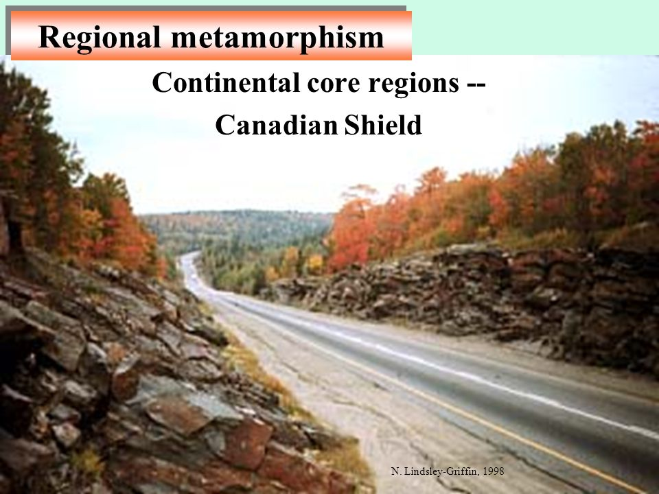 Continental core regions -- Canadian Shield
