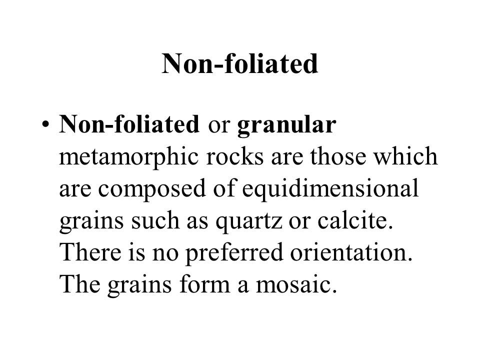 Non-foliated