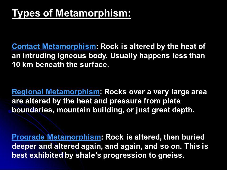Types of Metamorphism: