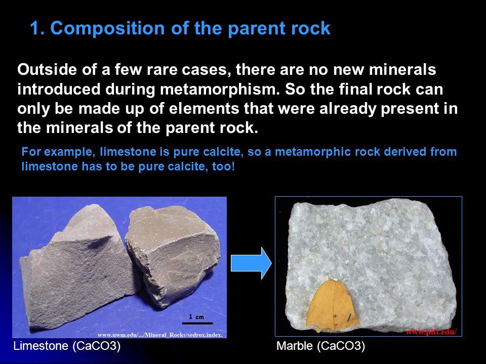 1. Composition of the parent rock
