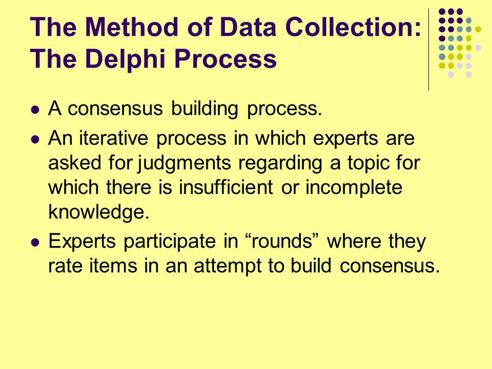 The Method of Data Collection: The Delphi Process