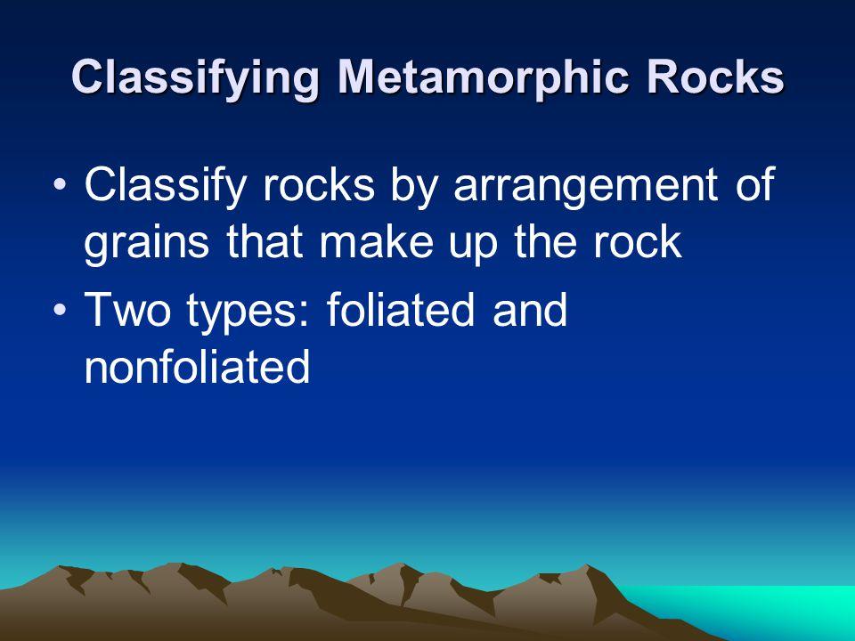 Classifying Metamorphic Rocks