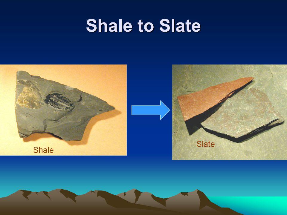 Shale to Slate Shale Slate
