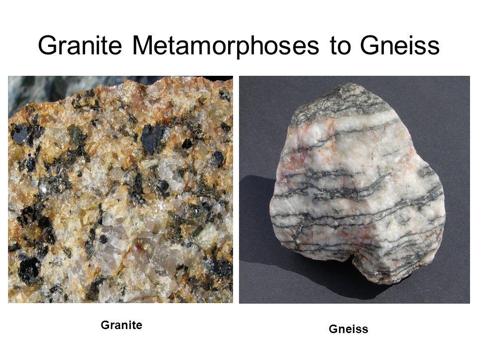 Granite Metamorphoses to Gneiss