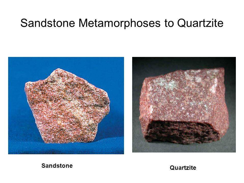 Sandstone Metamorphoses to Quartzite