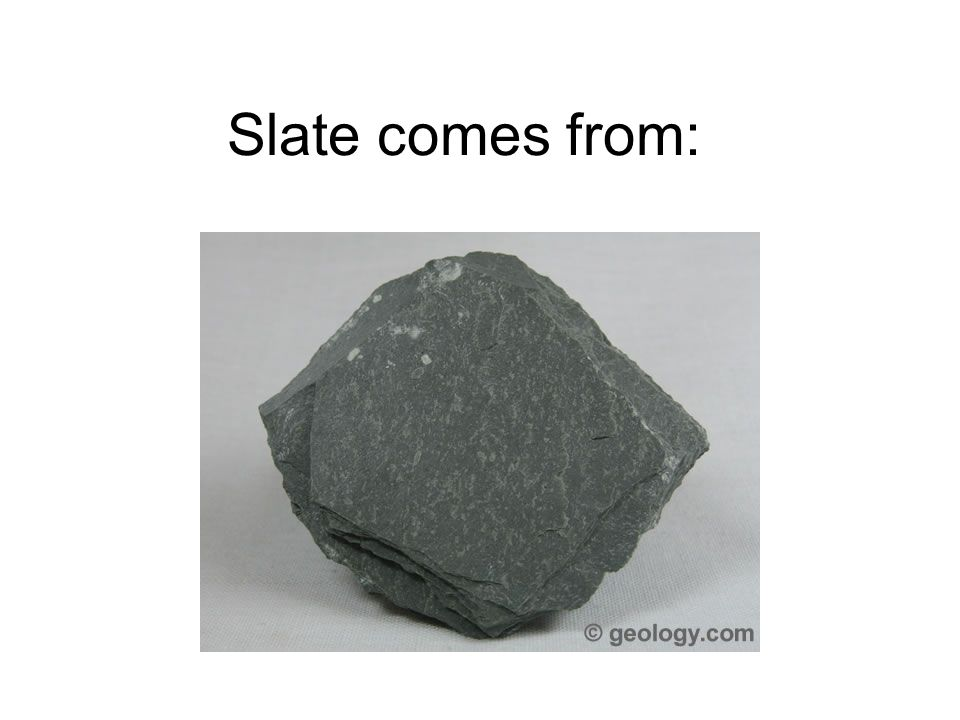 Slate comes from: