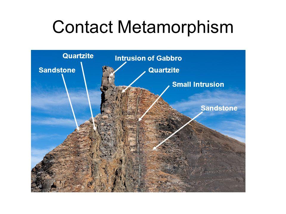 Contact Metamorphism Quartzite Intrusion of Gabbro Sandstone Quartzite