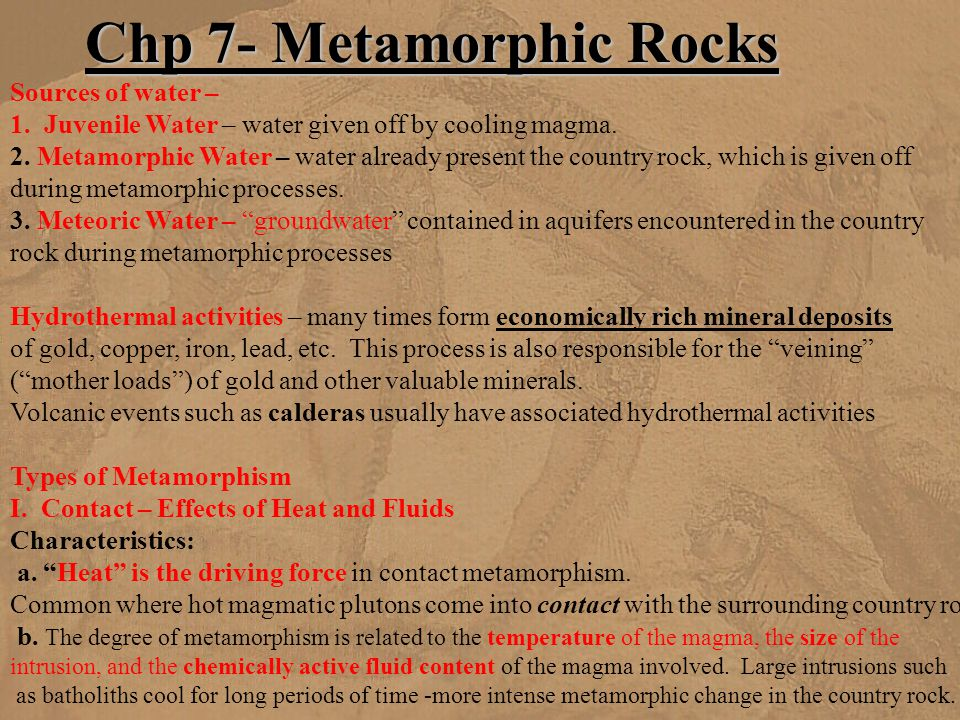 Chp 7- Metamorphic Rocks