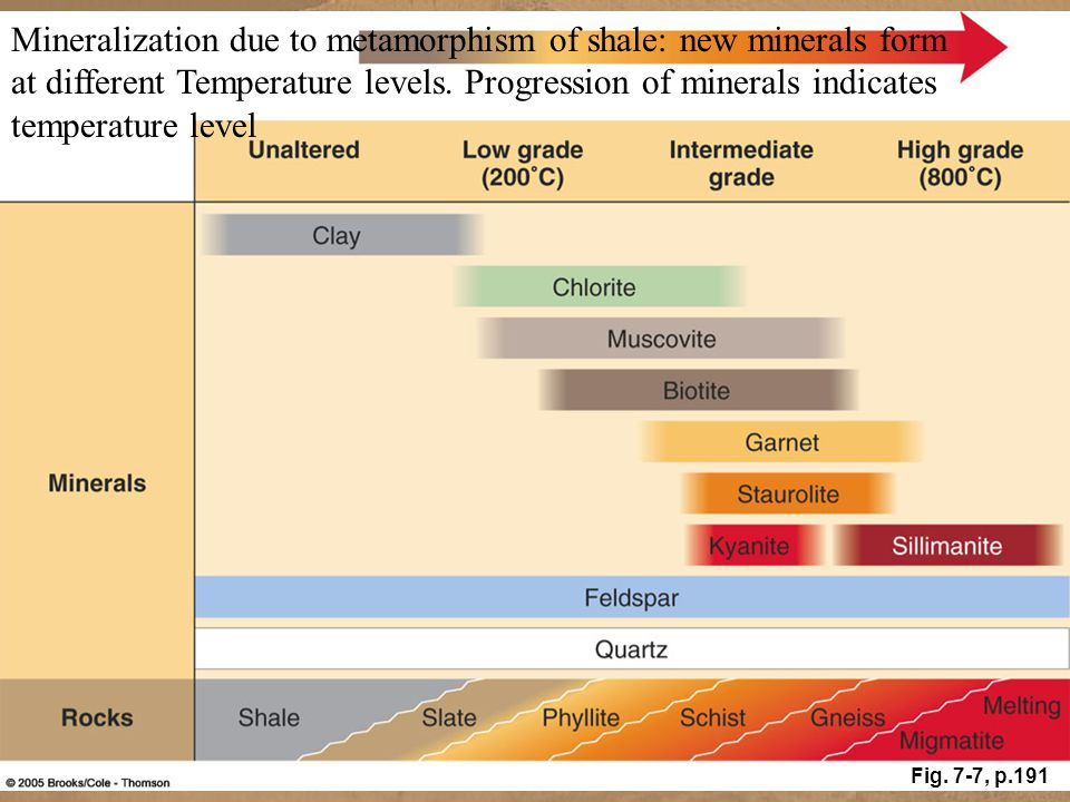 Mineralization due to metamorphism of shale: new minerals form