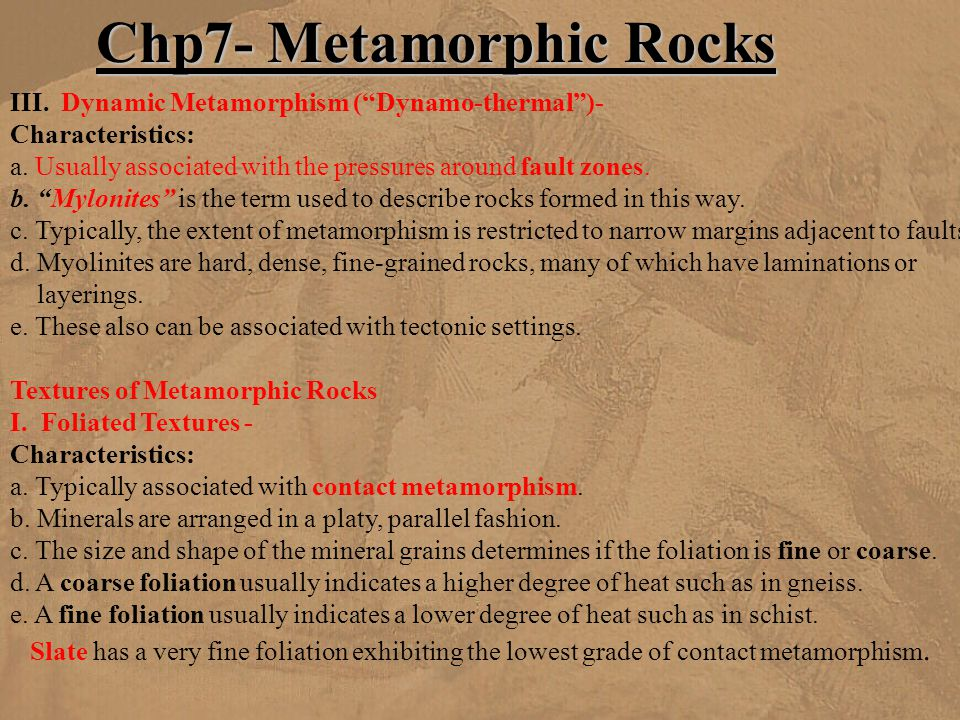Chp7- Metamorphic Rocks